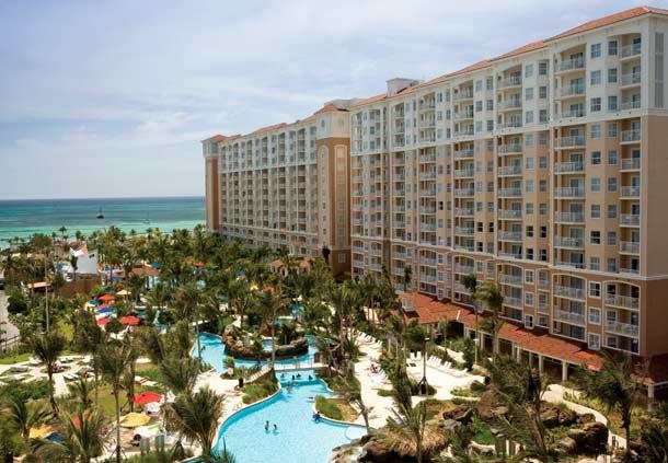 Vista de piscina Marriott Aruba Surf Club Resort