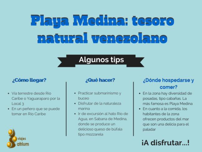 Tips sobre Playa Medina, municipio Arismendi, estado Sucre