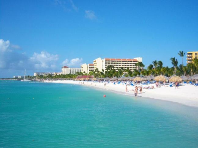 Aruba, isla feliz, mar caribe