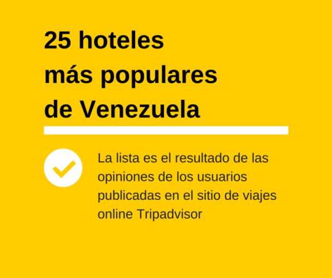 25 hoteles más populares de Venezuela