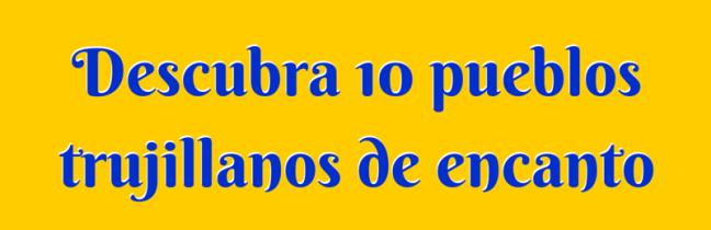 Pueblos del estado Trujillo