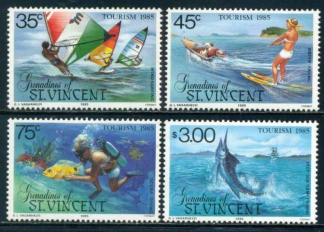 San Vicente y las Granadinas, filatelia, Bequia, isla de los famosos
