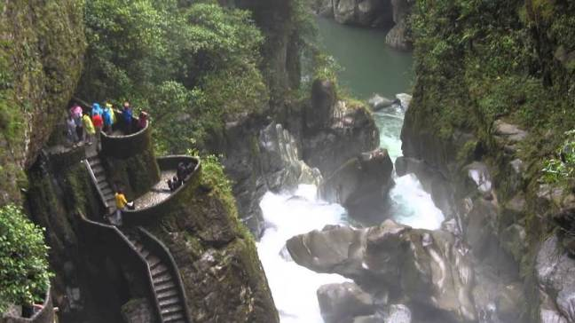 Ecuador, catarata, Pailón del Diablo